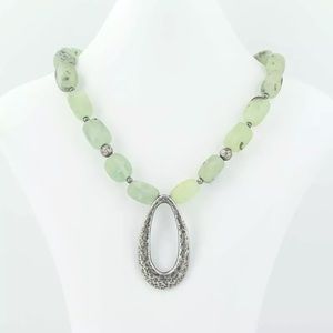 Silpada retired sterling green prey items necklace